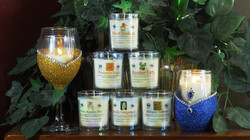 100% Soy Scented Candles & Bling Sets