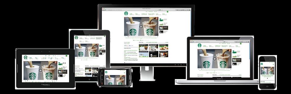 Responsive web design sample Platinum Edge Media