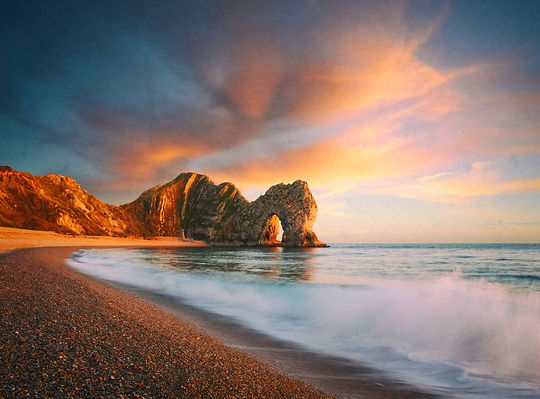 durdle-door-composite-royalty-free-image