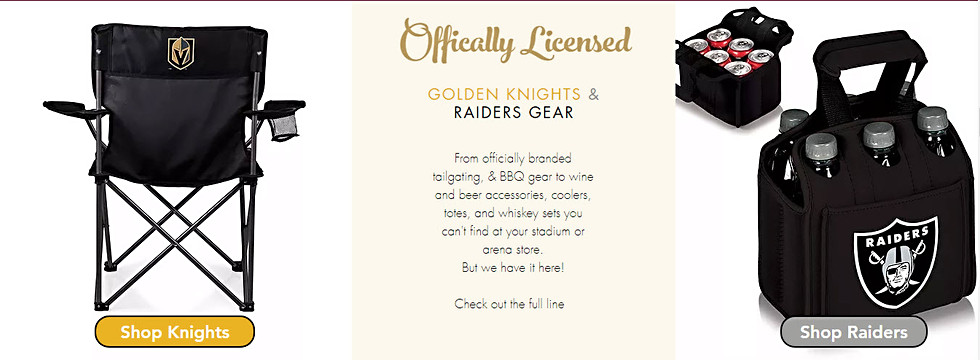 WineyBitches.Co LV Golden Knights & Raiders Gear
