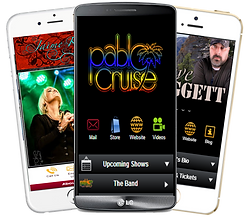 Express app band, concert, entertainer sample Platinum Edge Media