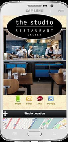 Express app Restaurant The Studio sample Platinum Edge Media