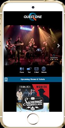 Express app band, concert sample Platinum Edge Media