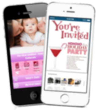 Baby App party invite sample my life events app