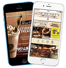 Express app coffee shop, tea house sample Platinum Edge Media