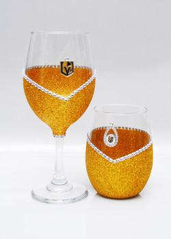 "Winey ""Blinged"" Glassware"