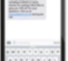 Standard text message sample- Platinum Edge Media