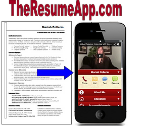 The Resume App logo- Platinum Edge Media