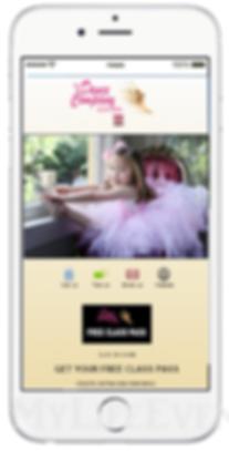 Express app dance studio promotion sample Platinum Edge Media