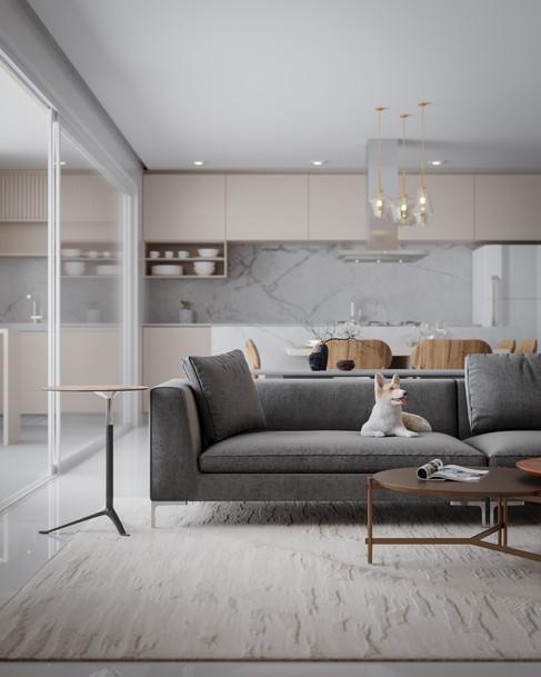 Imagem 3D de apartamento alto padrão