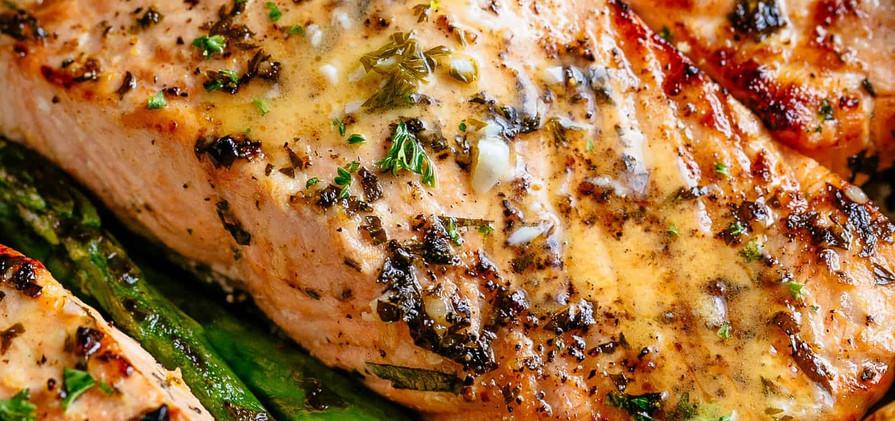 Grilled Garlic Salmon