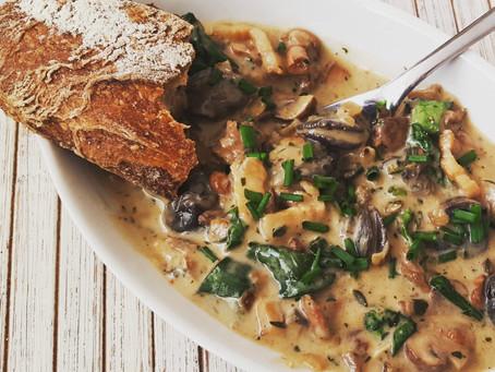 Escargo Gratineed + Mushrooms