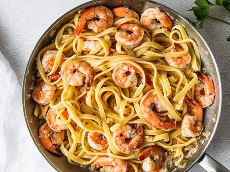 Shrimp Scampi + Pasta
