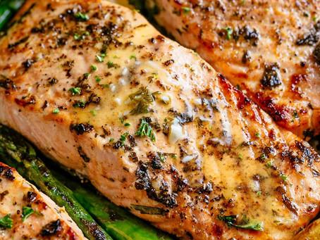 Garlic Salmon + Asparagus