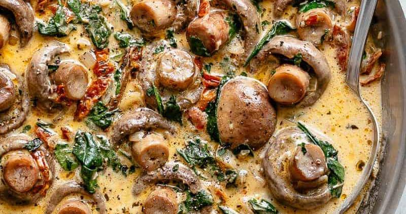 Garlic Butter Tuscan Mushrooms