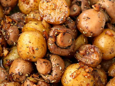 Tuscan Mushrooms + New Potatoes