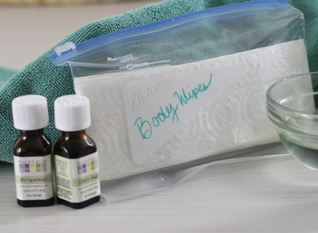Clary Sage Bergamot Face and Body Wipes