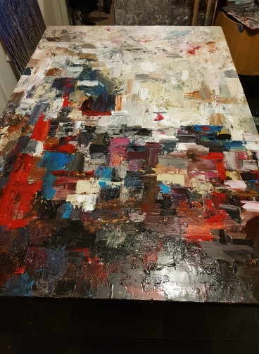 creating a large abstract painting