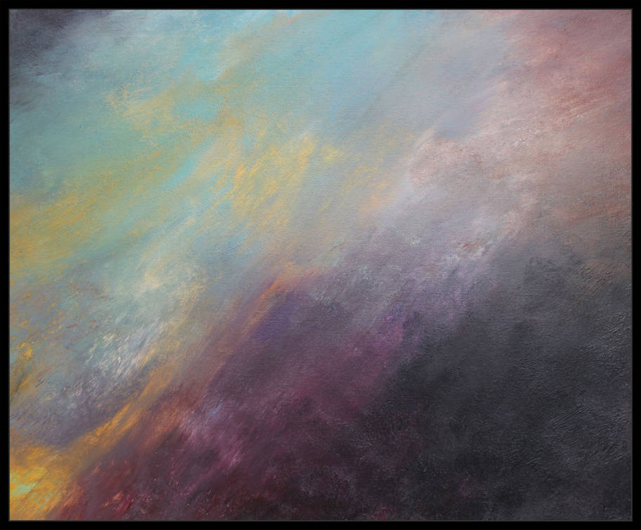 William Mills Atmospheric Ombre Abstract Art Texture Contemporary