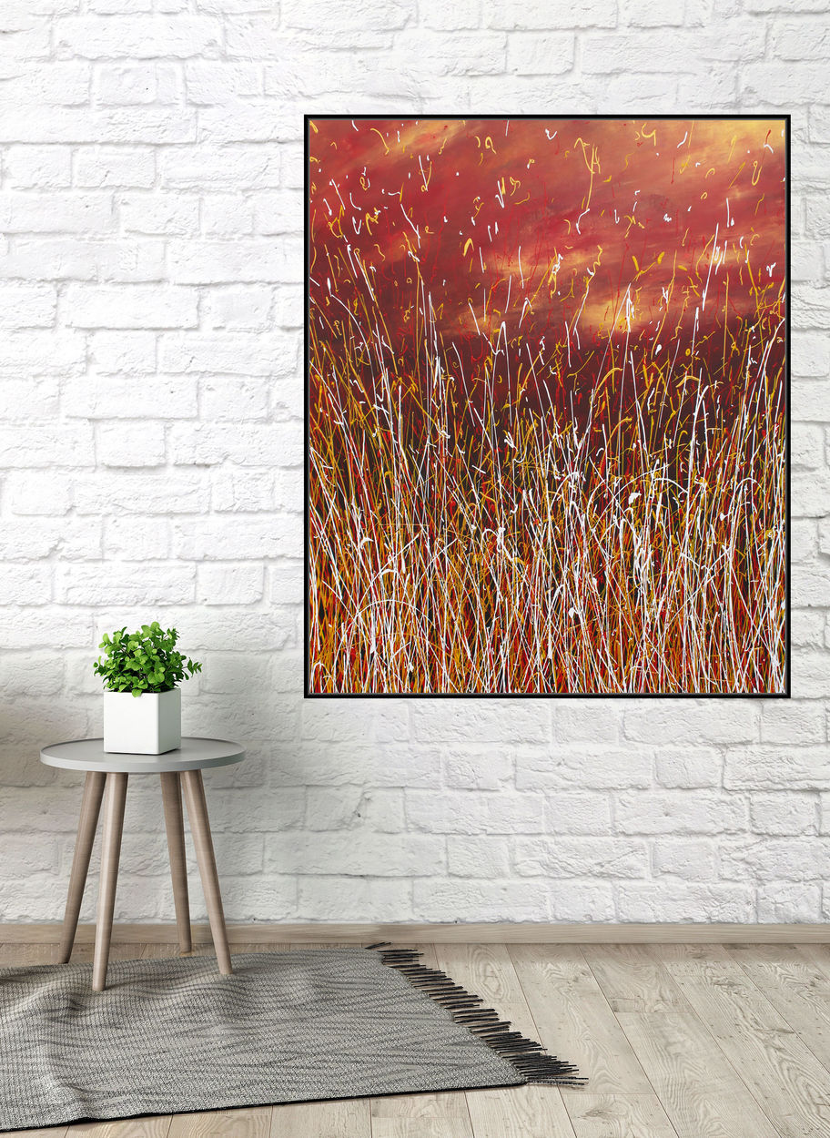 William Mills Atmospheric Ombre Abstract Art Texture Contemporary Painting