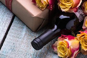 Packages, Flowers, Wine