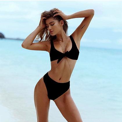 Bikini bow black