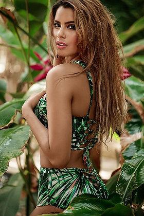 Bikini highwaisted tropical