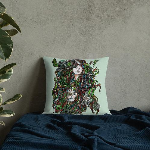 Lioness-Premium Pillow