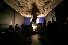 ekayapahkaci performance, 2008 Invisible City, Winnipeg MB - Scott Benesiinaabandan, photo credit