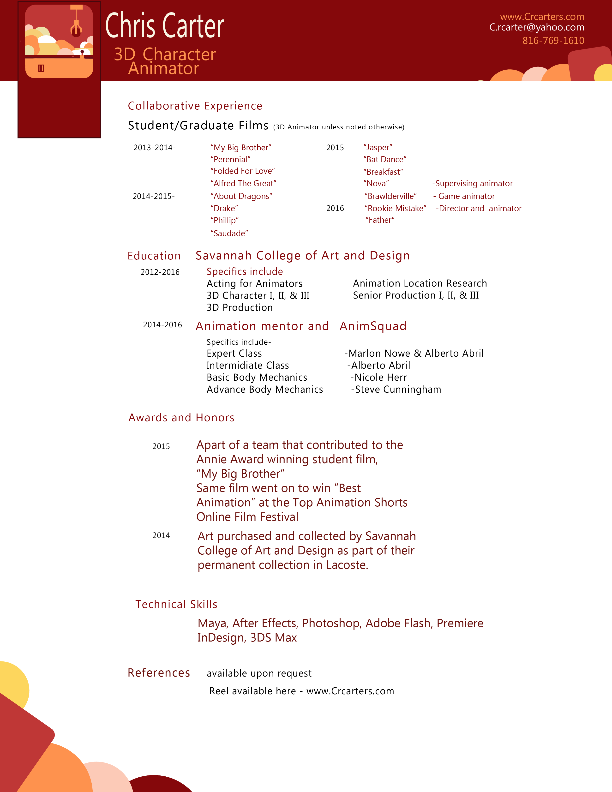 Cover letter 3d modeler - Best custom paper writing services