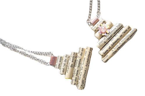 Stacked Paper Bead Life Necklace