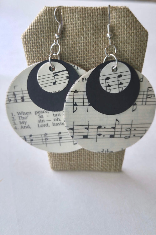 Hymn Triple Circle Earrings