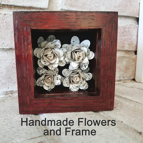 Hymn Rose Shadow Box (Frame built by Dad!)