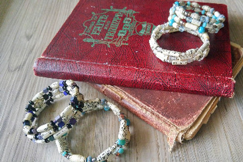 Hymnals with The Paper Bead Princess Recycled Hymnal Cuffs