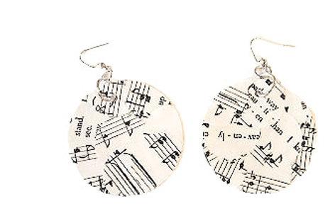 Hymn Collage Circle Earrings