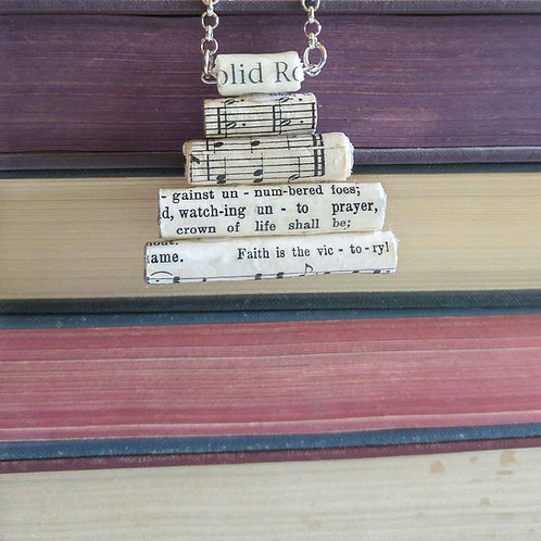 Stacked Paper Bead Hymn Necklace