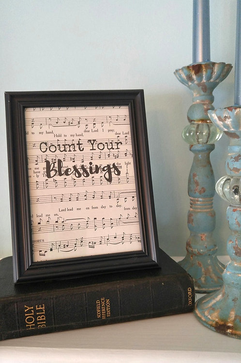 """Count Your Blessings"" Hymnal Wall Art"