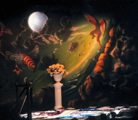 """Gospel at Colonus"" backdrop SL"