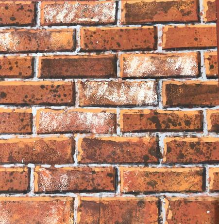 Tromp l'oeil Brick technique