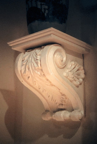 Acanthus Leaf decorative shelf
