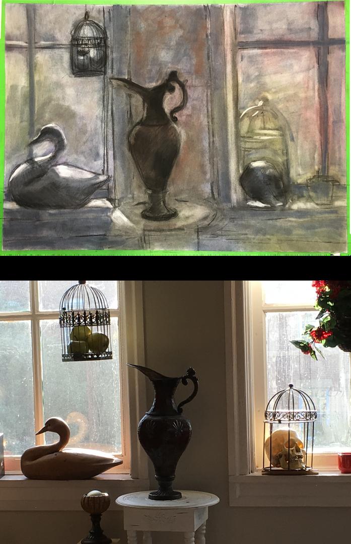 Still Life Demonstration with Windows