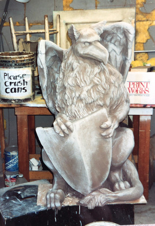 Griffin Sculpture basecoat