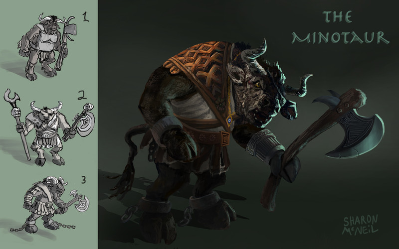 Character Design for a Minotaur