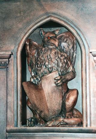 griffin sculpture painted