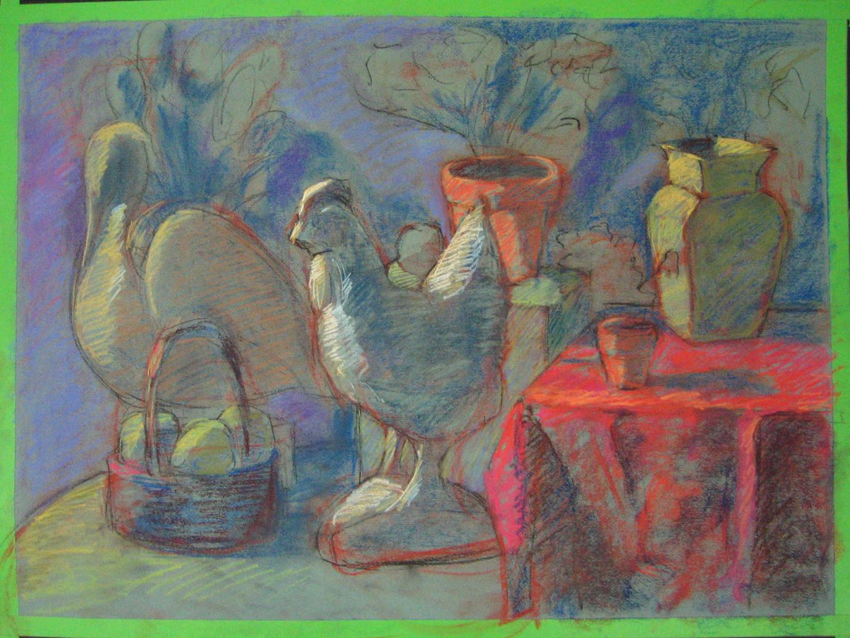 Color Still Life in NuPastel