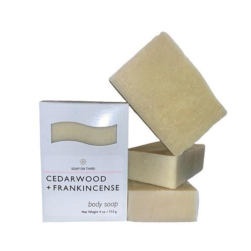 CEDARWOOD + FRANKINCENSE BAR