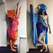 the Divine Feminine (Orange and Blue)