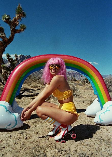 Woven Sun Electric Lemonade Bamboo Velour Set Featured On Model Shelly Fuentes Photographe