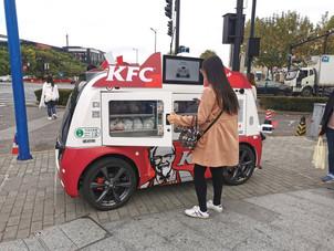 KFC a lansat food truck-urile  autonome 5G, fără șofer.