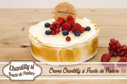 Chantilly si fructe de padure